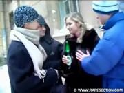 Русскую пьяную девку ебут в попу